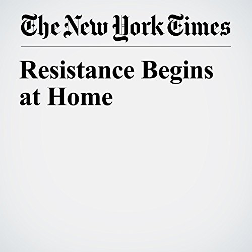 Resistance Begins at Home copertina