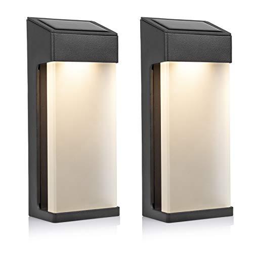 Smartwares LED Solar Wandleuchte, Aluminium, Anthrazit