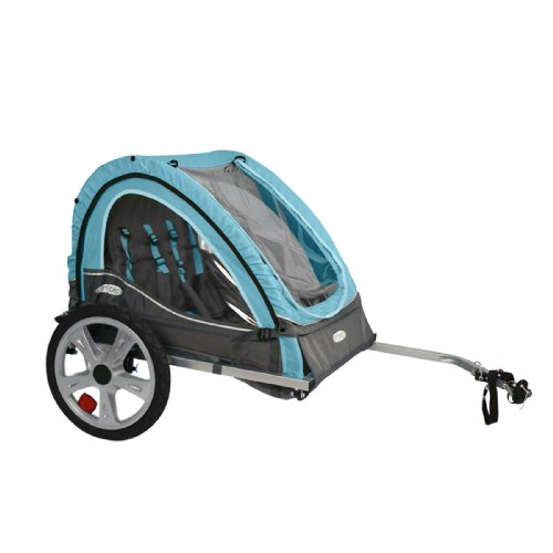 Instep Bike Trailer for Kids, Single and Double Seat, Double Seat, Light Blue