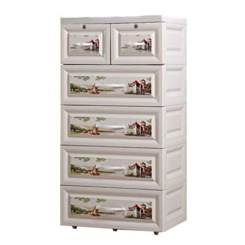 Armoires de Rangement boîte de Rangement de Rangement Table de Chevet de Rangement pour tiroir casier de Rangement pour la Protection de l'environnement (Size : 50x35x105cm)