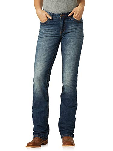 Wrangler Women's Big Girls' Willow Mid Rise Boot Cut Ultimate Riding Jean, Rebecca, 11W x 32L