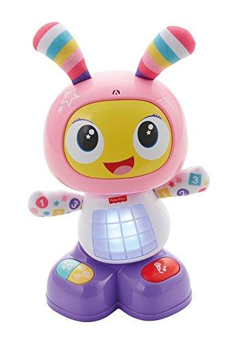 Fisher-Price Mon Amie Beba le Robot jouet bébé d'éveil avec 3 modes de jeu, version espagnole, 9 mois et plus, FBC99