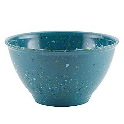 Rachael Ray Accessories Kitchen Pantryware Multi Purpose/Salad Serveware/Melamine Garbage Bowl, 4 Liters, Agave Blue