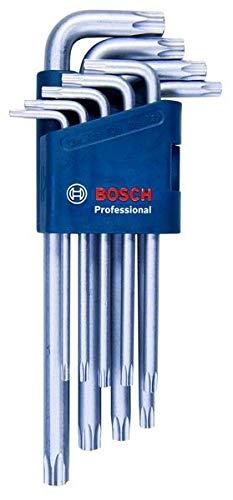 Bosch Professional 1600A01TH4 9tlg. Innensechskantschlüssel Set TORX, Blau