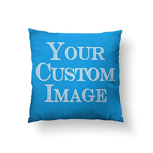 MUSTYDF gemaakt om te bestellen CUSTOM gooien kussen indienen van uw kunstwerk ontwerp foto Spun polyester gooi kussensloop cover made in USA