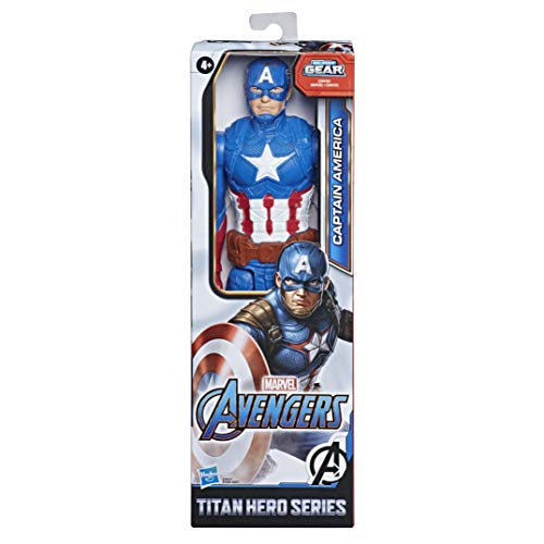 Marvel Avengers Titan Hero Serie Captain America, 30 cm große Actionfigur mit Titan Hero Power FX Port