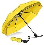 Parapluie de voyage compact «Téflon» à séchage rapide, cadre renforcé contre le vent,...