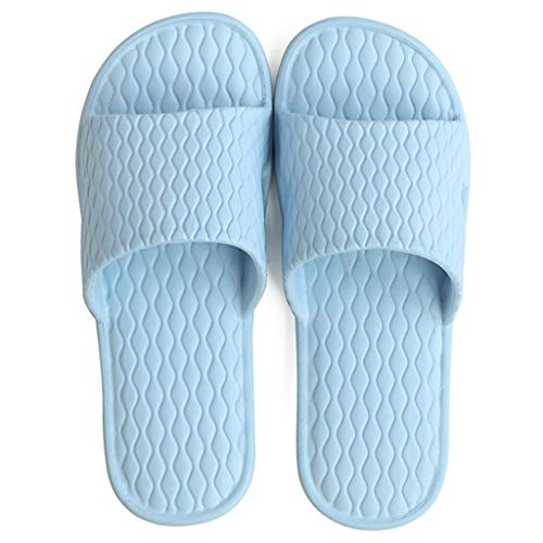 caihuashopping Anti-Slip Slippers Men's and Women's Lightweight Non-slip Slippers Bathroom Shower Sandals Home Slippers Pool Shoes Summer Sandals (Color : Blue, Size : 38-39 yards)