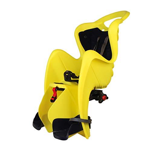 Bellelli seggiolino Bici Posteriore Mr Fox Standard Yellow/Blue Hi-Fix B-Fix