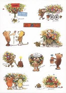Janosch GeburtstagsPOSTkarte Multi-Sticker Gratulation