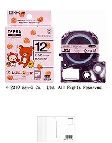 キングジム テープカートリッジ テプラPRO リラックマ 12mm SGR12BP いちご ピンク 【× 2 個 】 + 画材屋ドットコム ポストカードA