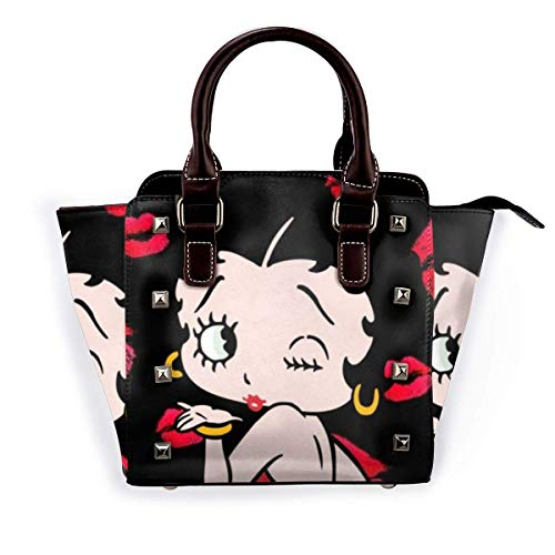 Be-Tty BO-Op Damen Lederniet Handtaschen Umhängetasche Tragetaschen mit verstellbarem Schultergurt für die tägliche Geschäftsreise