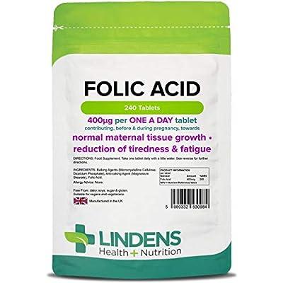 Lindens Folic Acid 400mcg 240 Tablets by Lindens