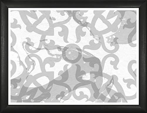 Homedecoration Bilderrahmen Colonia 42 x 52 cm mit leicht abgerundetem Profil in Schwarz gemasert mit Acrylglas klar 1mm für Bilder Fotos Kunstdrucke Poster Puzzle