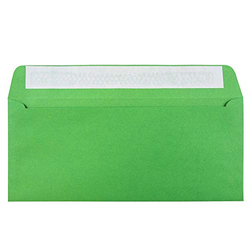 JAM PAPER #10 Business Colored Envelopes with Peel and Seal Closure - 4 1/8 x 9 1/2 - Green Recycled - 50/Pack