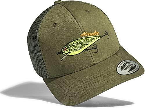 Gorra de béisbol: Carnada - Wobbler - Pescado - Cebo/Cap/Classic Flexfit Snapback/Basecap/Regalo-s Pescador/Gorras de hombre y mujer/Gorro-s Trabajo/Tapa/Pesca/Fish (One Size)
