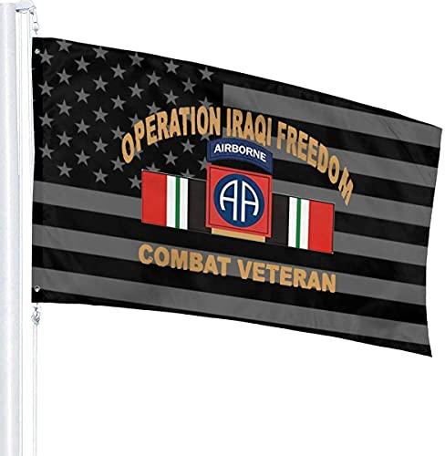 'N/A' SBLB 82nd Airborne Irak Combat Veterano Bandera 3' X 5' Ft Banderas al aire libre Bandera Brisa