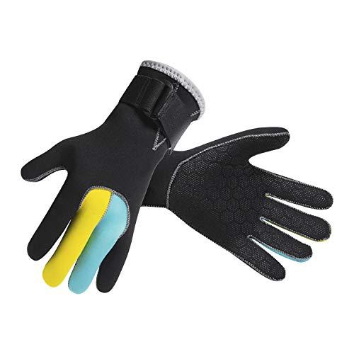 JIAHG Männer Frauen Neopren Handschuhe Neoprenanzug 3mm Surfen Tauchen Handschuhe Anti-Rutsch Schnorchelhandschuhe High-Stretch Kajak Handschuhe Schwimmen Warme Handschuhe Gloves zum Tauchen Surfen