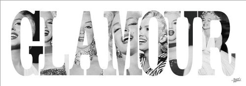 Pyramid International - Stampa decorativa Glamour con motivo'Marilyn Monroe'