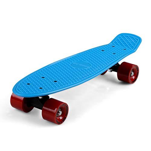 Deuba Skateboard Mini Cruiser Bambini e Adulti Stile retrò Penny Board 22 Pollici ABEC 7 Ruote 60 mm Portata 100kg