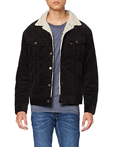 Lee Homme Sherpa Jacket Jacke, Noir (Black 01), Large