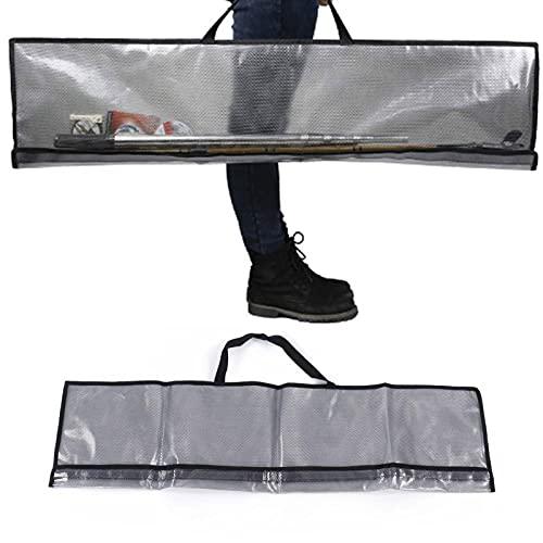 Gaeirt Bolsa de Pesca de PVC Transparente, Caja de Bolsa de caña de Pescar portátil para Pesca al Aire Libre, Bosque