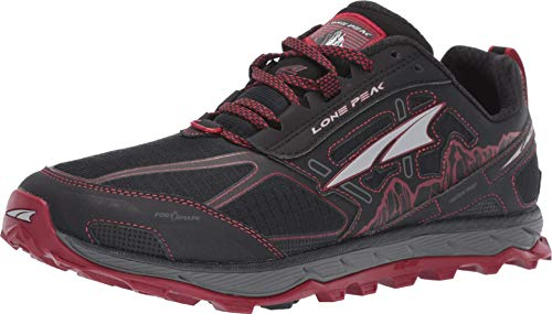 ALTRA Men's AFM1855F Lone Peak 4 Trail Running Shoe, Black/Red - 15 M US