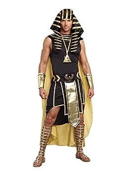 Dreamgirl Men s King of Egypt King Tut Costume Black/Gold XX-Large
