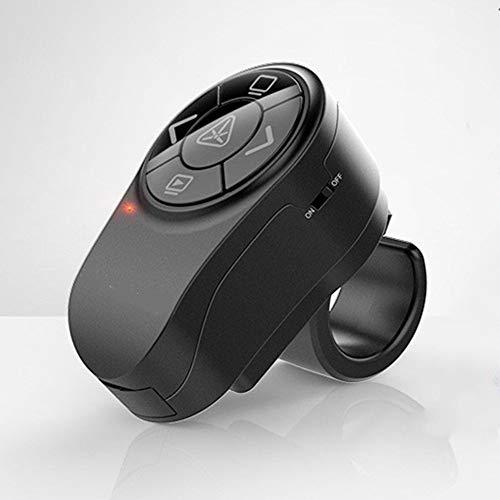Mix Vogue Wireless Presenter Laser Pointer Rechargeable, RF 2.4GHz Finger Ring Presentation Remote Control Powerpoint PPT Controler USB Slides Clicker Pen (Color : Black)