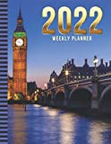 2022 Weekly Planner: 8.5x11 Dated 52-Week Organizer With To Do List - Notes Section - Habit Tracker / Big Ben Tower Bridge - London UK Travel Art ... to December Calendar / Life Planning Gift