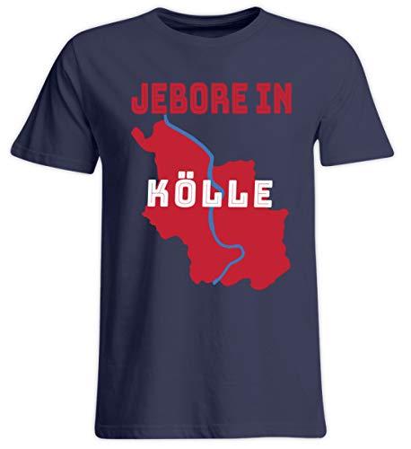 Maglietta con scritta in lingua inglese 'Jebore in Köllele', con orgoglio su Colonia sulla città della Repubblica del Reno blu scuro XXXXXL