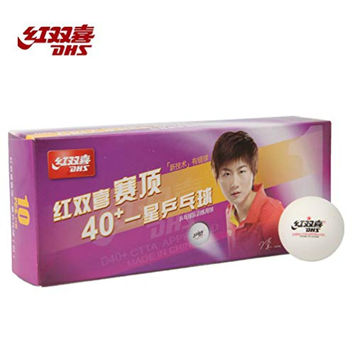 Save %9 Now! DHS D40+ ABS T.T. Table Tennis Ball (1-Star),Training Ping Pong Balls, 10 Balls/Box; (W...