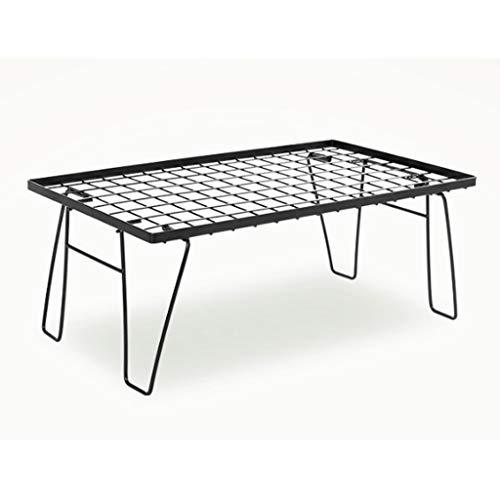 LZL Mesas Plegables de Picnic estables y duraderas Mesa de Aluminio para mesas de Comedor al Aire Libre para Camping/Banquete/Picnic Party/Garden BBQ - Ajustable en Altura (Color : Black)