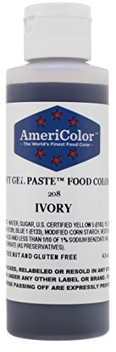 Americolor Soft Gel Paste Food Color 45Ounce Ivory