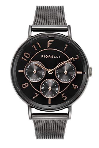 Fiorelli Damen Analog Quarz Uhr mit Aluminium Armband FO047BM