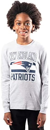 Ultra Game NFL New England Patriots Youth Lightweight Active Thermal Long Sleeve Shirt Team product image