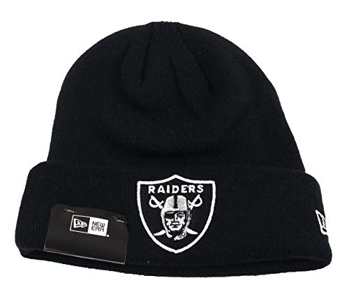 New Era Oakland Raiders Beanie Team Essential Cuff Knit Black - One-Size
