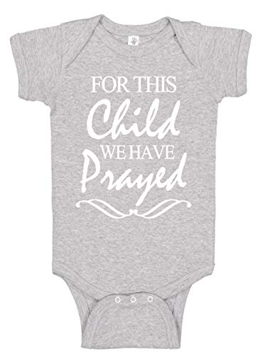 Aiden's Corner - for This Child - Baby Boy & Baby Girl Clothes - Religious Bodysuits (0-3 Months, Heather)