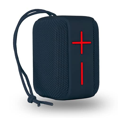 NG Roller Coaster Blue - Altavoz Bluetooth Portátil 10W Resistente al Agua Waterproof IPX6, con Batería Recargable y Entradas USB/Micro SD/AUX IN, Azul