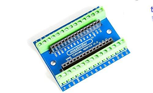 MissBirdler Arduino Terminal Adapter Modul für Arduino Nano V3 AVR Atmega 328P Prototyping verbindungs-klemme schraub-Klemmen schraubverbinder schraubzwingen Shield