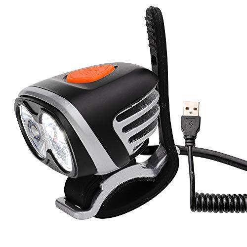 USB Helmlampe Stirnlampe Sport und Freizeitlampe mit 720 Lumen   3 Leuchtmodi   kann mit allen 5V Powerbanks mit einem Output von 2A betrieben werden