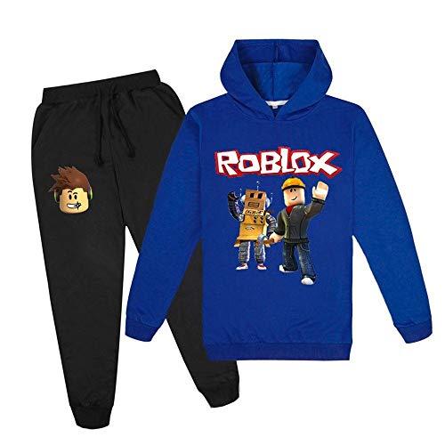 LVTIAN Junge Unspeakable Spiele Familie 2 Stück Anzug Outfits, Pullover Outfits Cartoons Charaktere Pullover Cotton Sweatshirt Hosen Kleidung Sets, Roblox Sweatshirt Pullover und Hosen