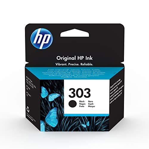 HP 303 T6N02AE, Negro, Cartucho Original de Tinta, compatible con impresoras de inyección de tinta HP Tango, Tango X, Envy 6220, 6230, 7130, 7830