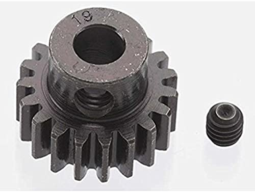 ROBINSON RACING 8619 Extra Hard 19T schwarzened Steel 32P Pinion 5mm [Toy] by Robinson Racing