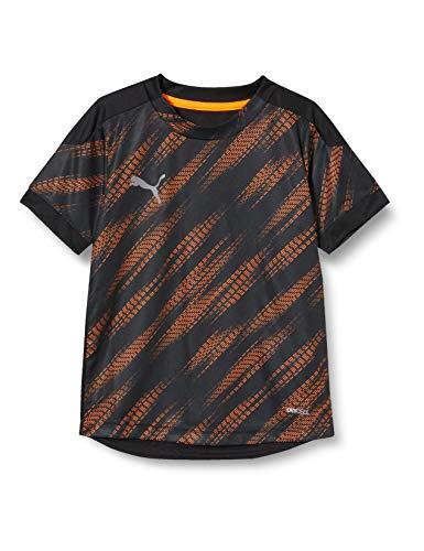 PUMA Ftblnxt Graphic Shirt Jr Camiseta, Unisex niños, Puma Black/Shocking Orange, 152