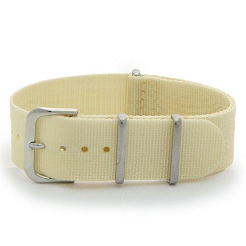 [カシス]CASSIS TYPE NATO ナトータイプ時計ベルト 20mm ベージュ ファブリック時計ベルト #141.601S 027 020
