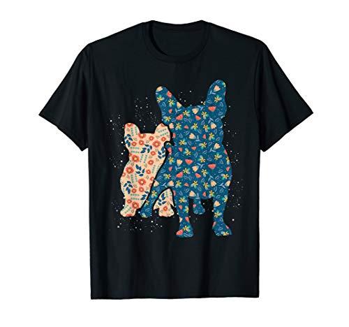 Floral French Bulldog T-Shirt