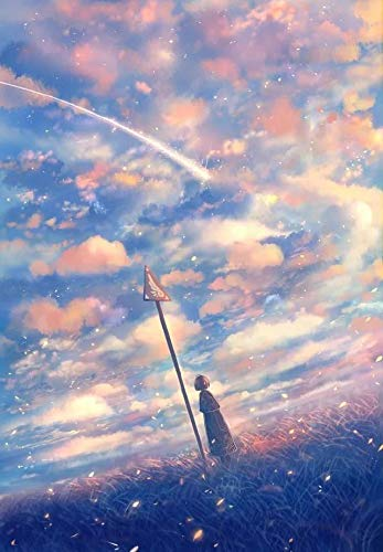 Diy fantasía pintura al óleo de dibujos animados por kits de números pintura acrílica por números sobre lienzo paisaje pintado a mano A6 50x70cm