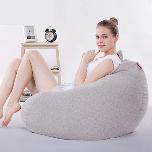 Bean Bag Sillón Puff Gamer reclinable grande for exteriores, for interiores y for adultos - Silla con forma de bolsa de frijoles...