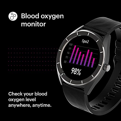 Noise NoiseFit Endure Smart Watch with 100+ Cloud Based Watch Faces & 20 Day Battery Life (Charcoal Black)